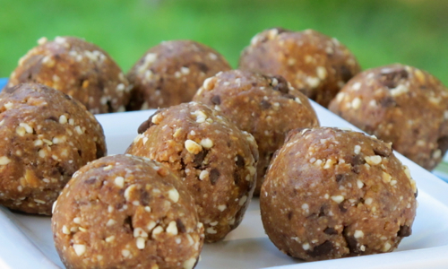 Oatmeal Raw Cookie Dough Balls