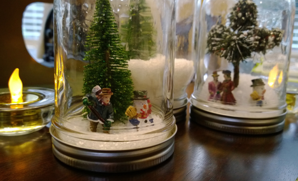 Snowglobes In A Mason Jar
