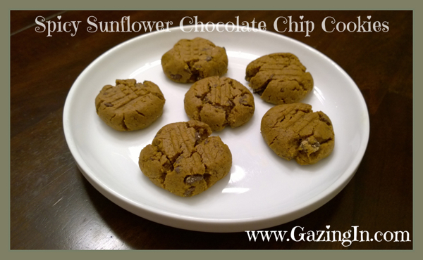 Spicy Sunflower Chocolate Chip Cookies
