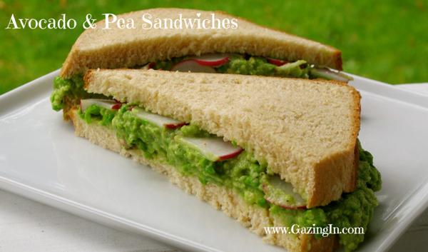 Celebrating Spring: Avocado & Pea Sandwiches