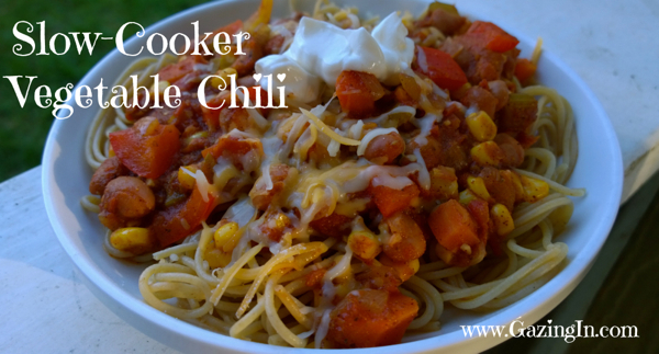 Slow-Cooker Vegetable Chili