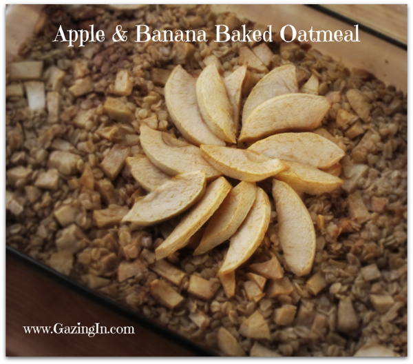 Oats Gone Wild: Apple & Banana Baked Oatmeal