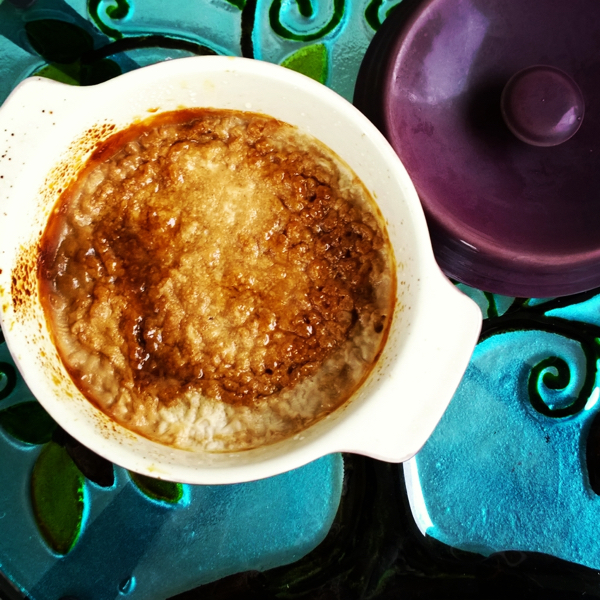 Steel-Cut Oatmeal with Salted Caramel