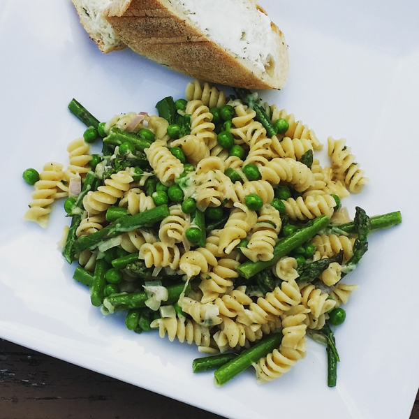 Spring Asparagus and Pea Pasta