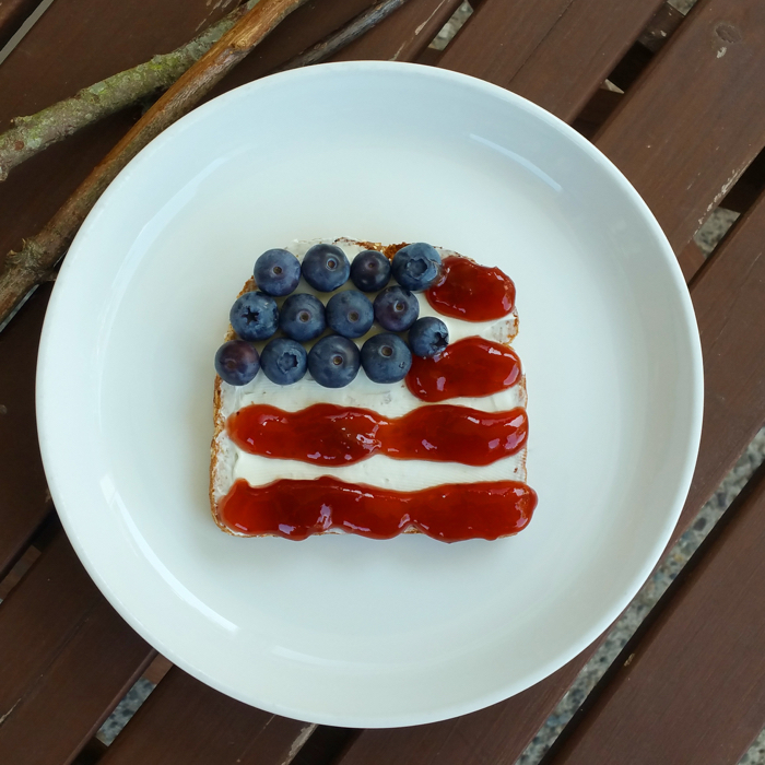 Red White and Blue 4th of July Toast