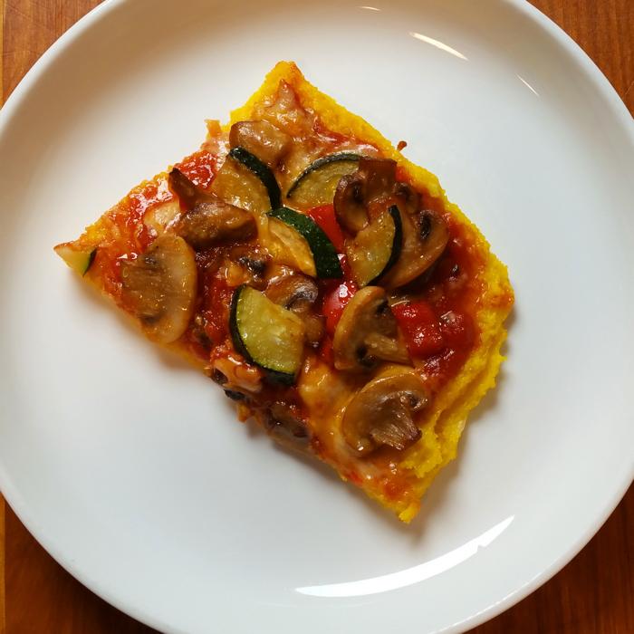 Gluten Free Veggie Polenta Pizza