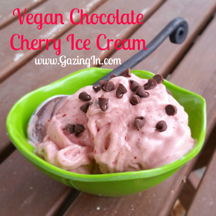 Vegan Chocolate Cherry Ice Cream