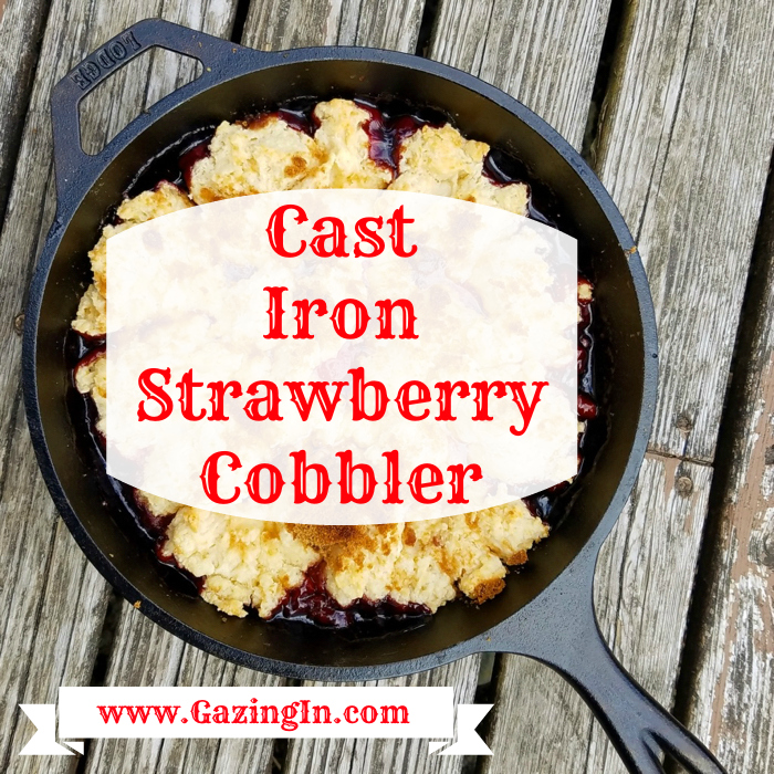 Cast Iron Strawberry Cobbler