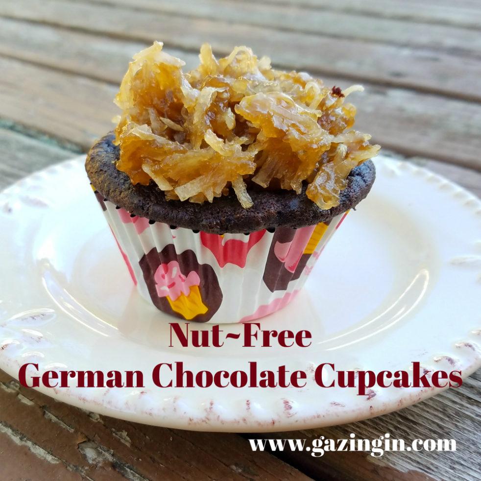 Nut Free German Chocolate Cupcakes - Gazing In